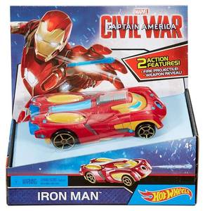 Машина Hot Wheels Marvel Civil War Captain America Iron Man Vehicle