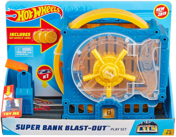 Игровой набор Hot Wheels Банк GBF96